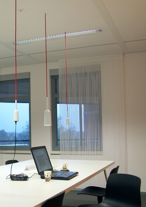 Lamp Blue | Bright red wire