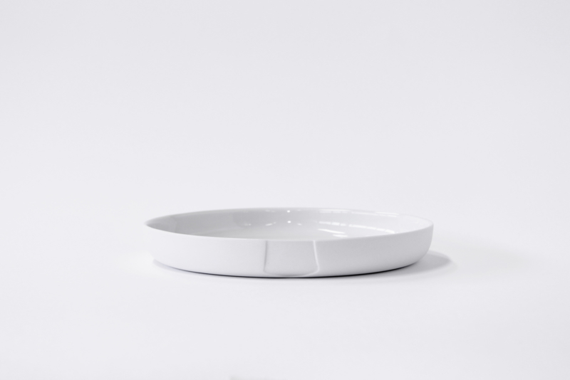 Plate medium (high rim) | White