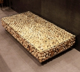 Koffietafel van drijfhout
