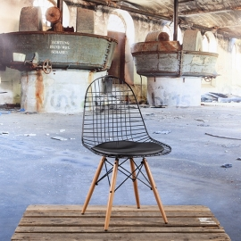 DKW style stoel zwart