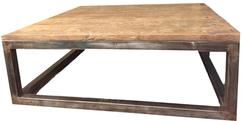 Salontafel met metalen onderstel