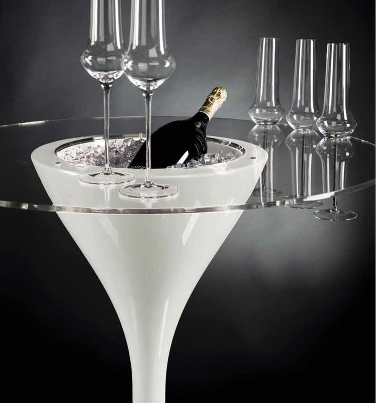 Cocktail tafel  met ijskoeler