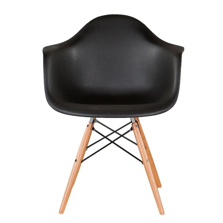 DAW style stoel zwart