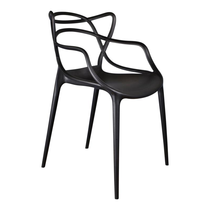 Design stoel Flinder zwart