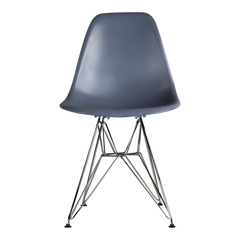 DSR style eetkamer stoel blauw grijs