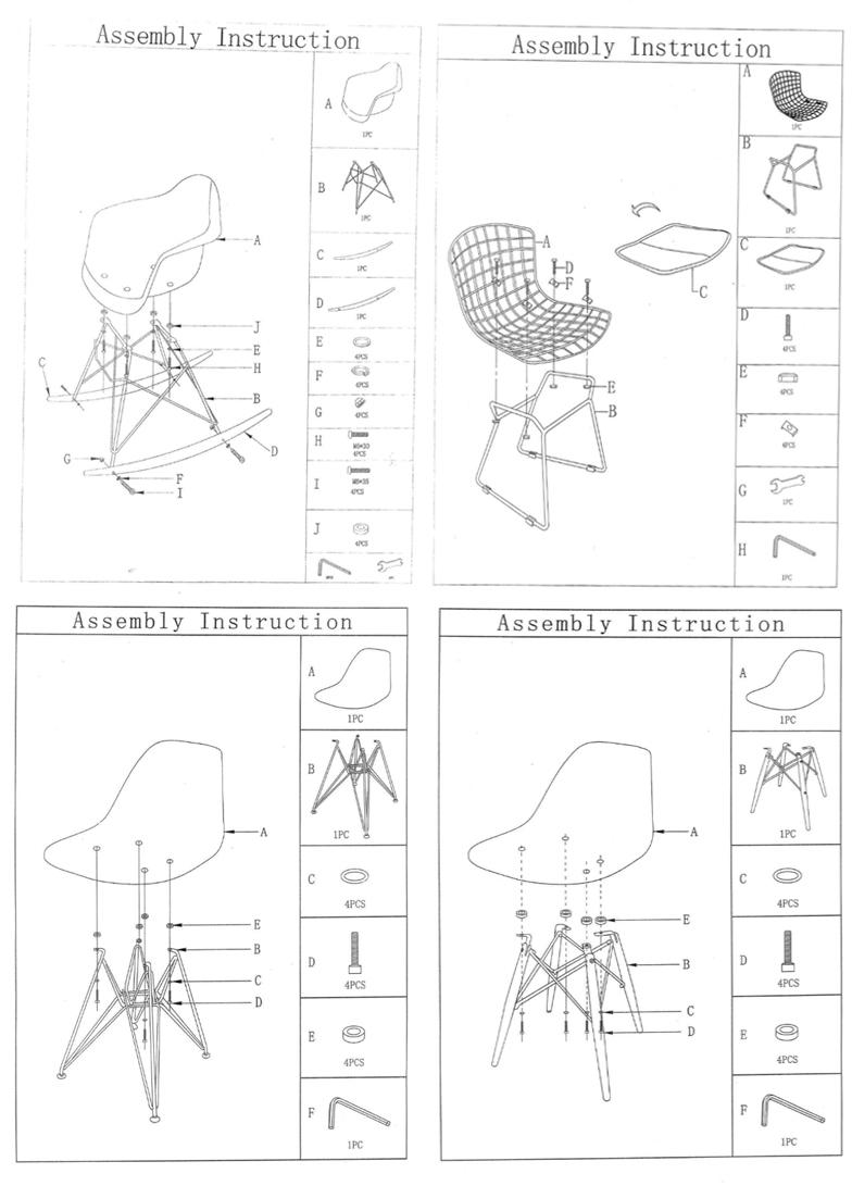 Eames style eetkamer stoelen