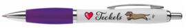 Love Teckels Pen PAARS RUWHAAR