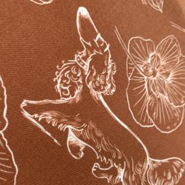 Tafelloper 150x50cm, Steenrood