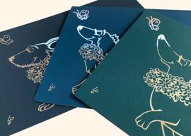 Luxe kaart - Zilverfolie - Korthaar