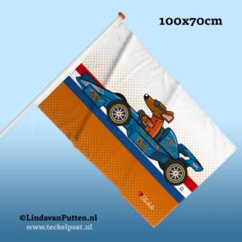 RACE AUTO TECKEL Vlag 100x70cm