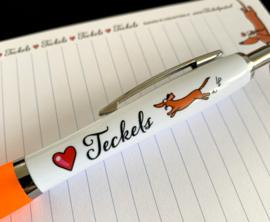 Love Teckels Pen Oranje