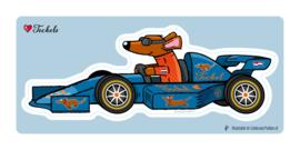 Sticker Groot RACEAUTO Teckel