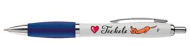 Love Teckels Pen DONKERBLAUW