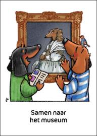 Teckel Tobie Samen museum - ansichtkaart - TT4-A29