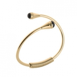 Twisted Curved Bracelet Stainless Steel Goud