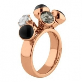 Twisted Ring Tess Edelstaal Rose Goud