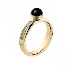 Twisted Edelstaal Zirkonia Ring Goud