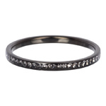 2 mm Zirkonia Ring Blackstone