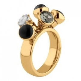 Twisted Ring Tess Edelstaal Goud