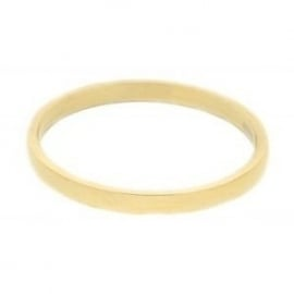 2 mm Ring Smalle Glad