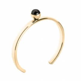 Twisted Bangle Stainless Steel Goud
