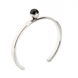 Twisted Bangle Stainless Steel Zilver