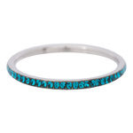 2 mm Zirkonia Ring Turquoise