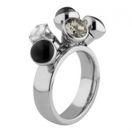 Twisted Ring Tess Edelstaal Zilver