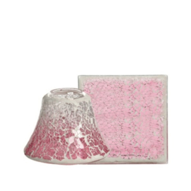 Pink fade Crackle Small Shade & Tray