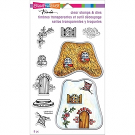 "Stampendous Fran's Clear Stamps & Dies 5""X7"" Cottage"
