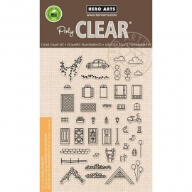 "Hero Arts Clear Stamps 4""X6"" Home Sweet Home"