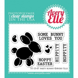 "Avery Elle Clear Stamp Set 2""X3"" Party Bunny"