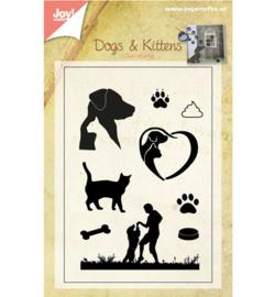 Clear Stempel Honden & Katten Joy Crafts