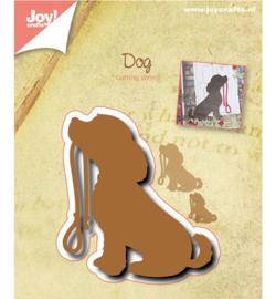Snij stencil - hond met riem - silhouette Joy Crafts