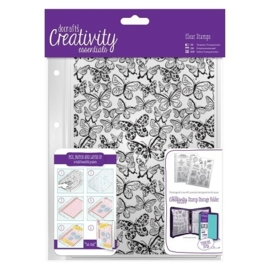 A5 Clear Background Stamp (1pc) - Butterflies