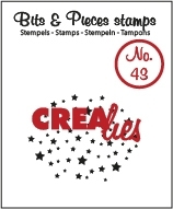 Crealies Clearstamp Bits&Pieces no. 43 45mm / CLBP43