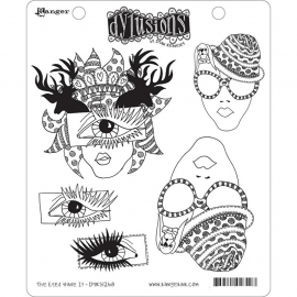 "Dyan Reaveley's Dylusions Cling Stamp Collections 8.5""X7"" The eyes have it"