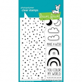 "Lawn Fawn Clear Stamps 4""X6"" Starry Backgrounds"