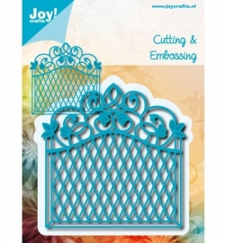 Joy Crafts Snij & Embossing stencil - Hek groot