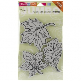 "Stampendous Fran's Cling Stamps 5""X7"" Leaves"