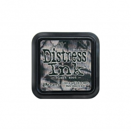 Distress inkt Black Soot