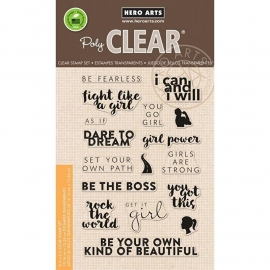 "Hero Arts Clear Stamps 4""X6"" Dare to Dream"