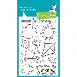 """Lawn Fawn Clear Stamps 4""""X6"""" Sunny Sky"""