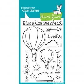 "Lawn Fawn Clear Stamps 4""X6"" Blue Skies"