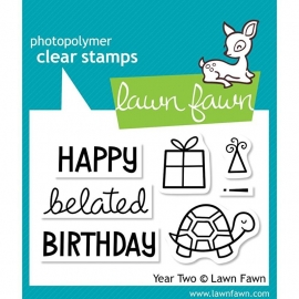 "Lawn Fawn Clear Stamps 3""X2"" Year two"
