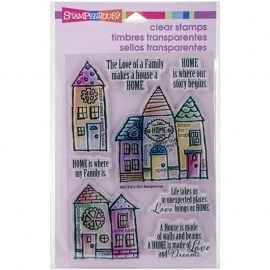 "Stampendous Perfectly Clear Stamps 4""X6"" Family Home"