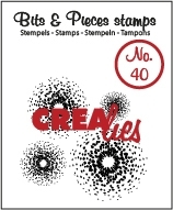 Crealies Clearstamp Bits&Pieces no. 40 45mm / CLBP40