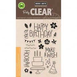 "Hero Arts Clear Stamps 4""X6"" Make a wish Birthday"