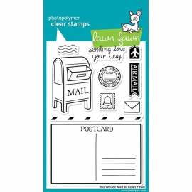"Lawn Fawn Clear Stamps 4""X6"" You got mail"