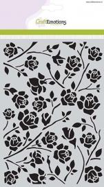 CraftEmotions Mask stencil Botanical rozen